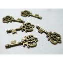 10 pieces pendentifs breloque clé Bronze ref 816