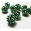 10 perles shambala vert 12*10mm