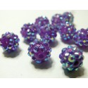 10 perles shambala violet 12*10mm