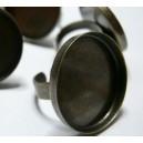 1 pièce Support de Bague Bronze 25 mm bord épais