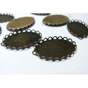 10 Supports de pendentif ovale vague 1825mm BR