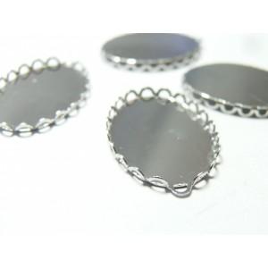 10 Supports de pendentif ovale vague 1825mm PP