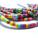 10 perles de turquoise Howlite multicolore 3 par 5mm