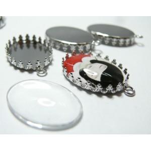 10 pièces: 5 Supports de pendentif ovale griffe 1825mm PP et 5 cab