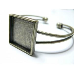 1 bracelet carré modèle double Bronze 20mm