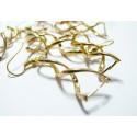 10 Supports de Boucle d'oreille doré spirale