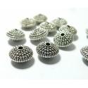 10 pieces perles ovales avec picot vieil argent