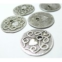 1 piece breloque pendentif medaillon coeur rétro vieil argent