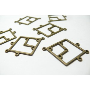 10 pieces bronze mutliconnecteurs losange Ref 68