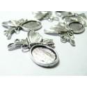 2 pièces pendentif papillon féerique ref A12244 Vieil argent