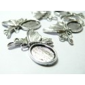 6 pièces pendentif papillon féerique viel argent ref A12244