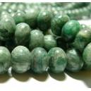 2 perles rondelles jade africaine vert 12 par 8mm