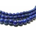 10 perles de lapis lazuli grade A ronde 6mm