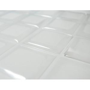 2 cabochons carré 20mm sticker autocollant epoxy transparent
