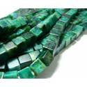Lot 2 pieces perles 8mm turquoise bleu verte carré