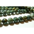 5 perles Turquoise Africaine ronde 10mm