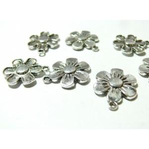 10 pièces breloque pendentifs moyennes fleur ref 2A2144