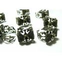 1 bague noeud anneau dentelle bronze