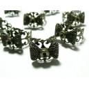 2 bagues noeud anneau dentelle  bronze