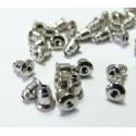 20 embouts /poussoir tube  pour Boucle d'oreille puce PP ref CH005071