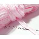 1 mètre ruban gros grain bi face rose pale 6mm