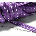 1 mètre ruban gros grain bi face violet 6mm
