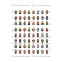 Collage Digital Poupée Russe Ovale 30x40 mm