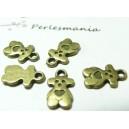 40 pendentifs ourson cookie  bronze REF 2D1107