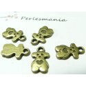 40 pendentifs ourson cookie bronze REF 2D1107