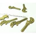 4 Supports de pendentif clé tête de mort bronze ref 2D1226