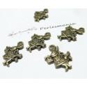 10 pendentifs lapin bronze REF 2D1402