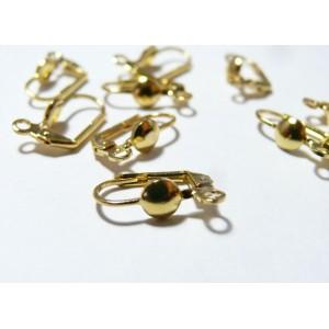 10 pieces Boucle d'oreille dorée rond