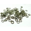 Apprêt bijoux 500 petits anneaux BR 0,7mm par 4 mm