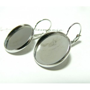 2 supports Boucles d'oreille PP 12mm