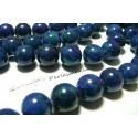 10 perles jade teintée vert bleu 8mm