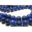 5 perles  jade teintée lapis lazuli 10mm