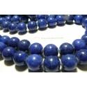 2 perles jade teintée lapis lazuli 18mm