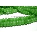 1 fil de 70 rondelles jade vert 5*8mm