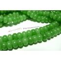 1 fil de 60 rondelles jade vert 6*10mm