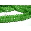 10 rondelles jade vert 6*10mm