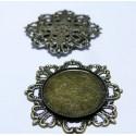 5 Supports de pendentif vintage bronze ref. B21815