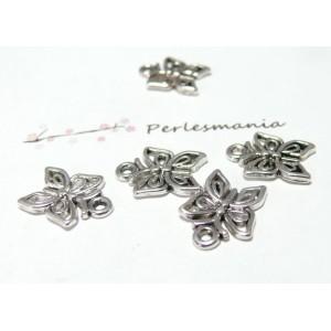 10 pieces petits papillon viel argent ref A890