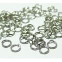 100 anneaux fins argent 8 par 0,8 mm ref JR8