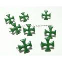 lot de 50 clous croix 12mm vert ref 9-4B0 à 2 griffes