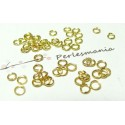 Apprêt bijoux 1000 anneaux 0,7 par 4 mm couleur or