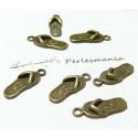 Apprêt 10 pendentifs sandales bronze 2D1734
