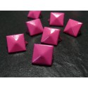 lot de 50 clous rivet 9mm pyramide carré à 4 griffes NO 227rose