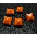 lot de 50 clous rivet 9mm orange pyramide NO 226 carré