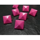 lot de 10clous rivet 12mm pyramide rose carré à 2 griffes