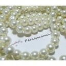 30 perles de verre nacré crème 6mm ref 2G53517